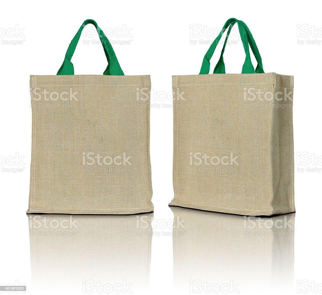 eco fabric bag stock photo