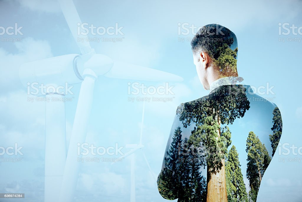 Eco friendly business concept stock photo