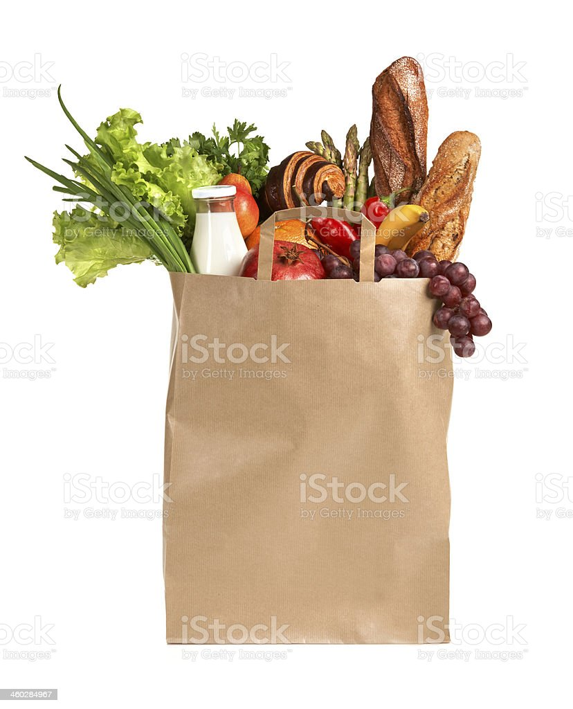 Eco friendly food shopping stock photo