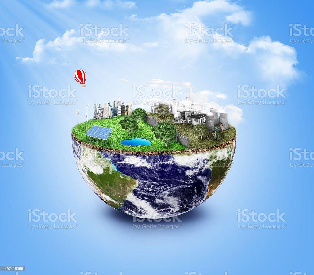 Eco Friendly, green energy concept. stock photo