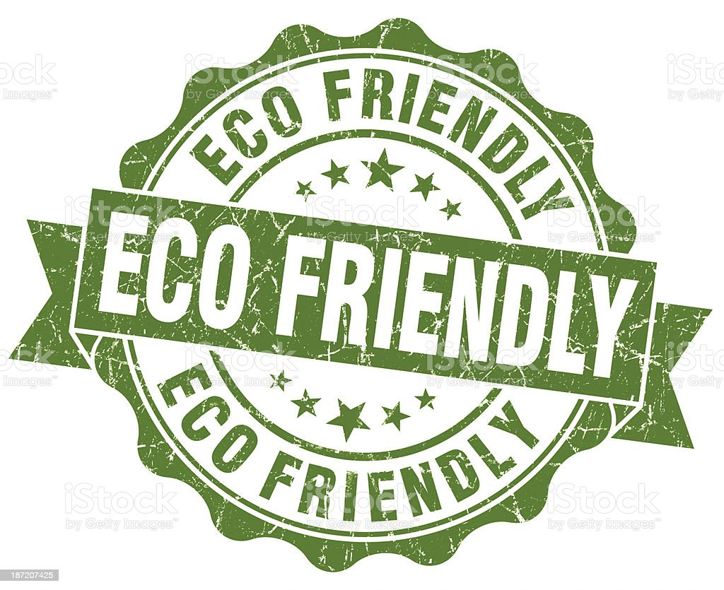 eco friendly green grunge seal stock photo