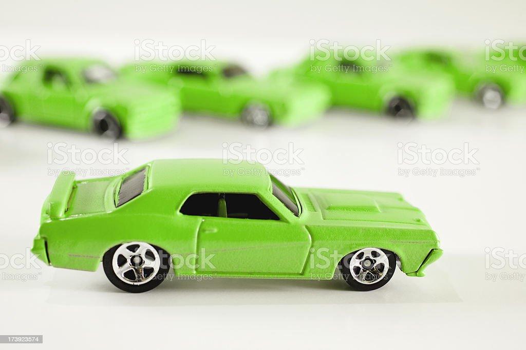 Eco friendly Green vehicles royalty-free stock photo