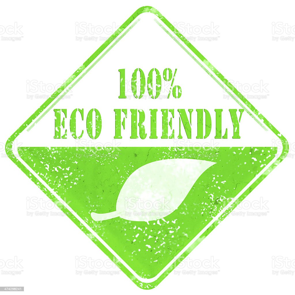Eco Friendly Sign royalty-free stock photo