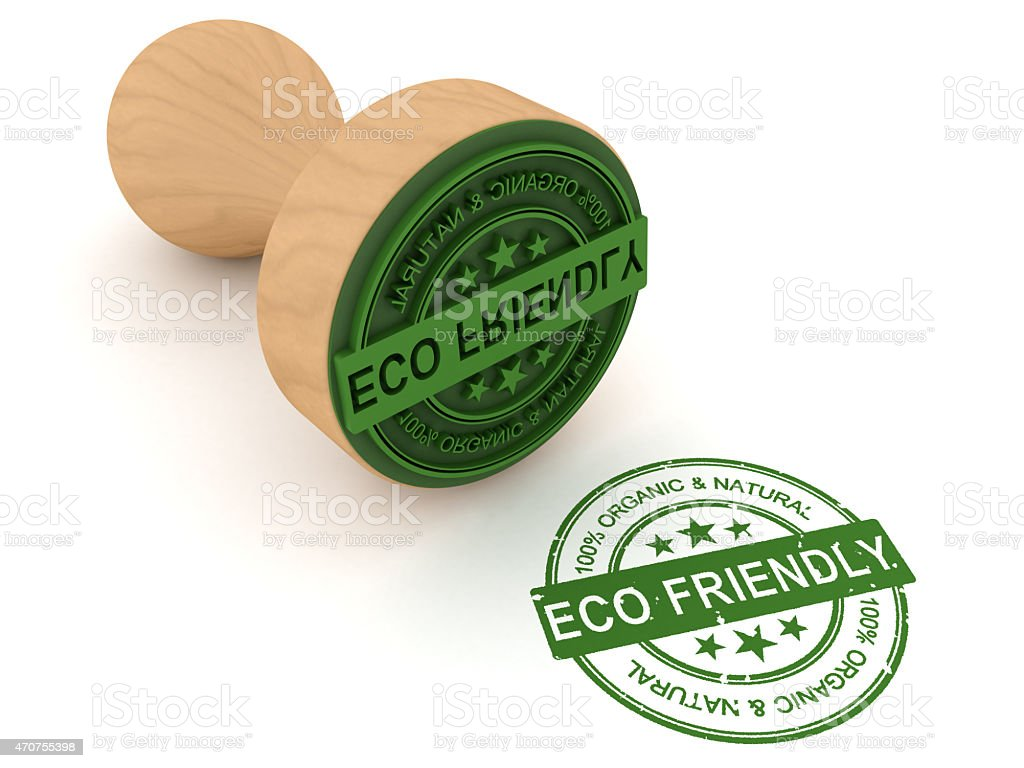 Eco friendly stamp stock photo