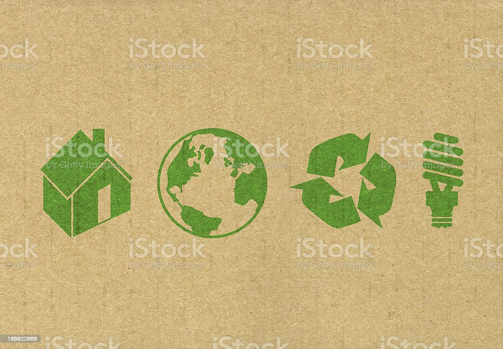 Eco friendly symbols stock photo