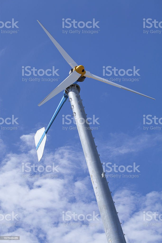 Eco friendly wind turbine royalty-free stock photo