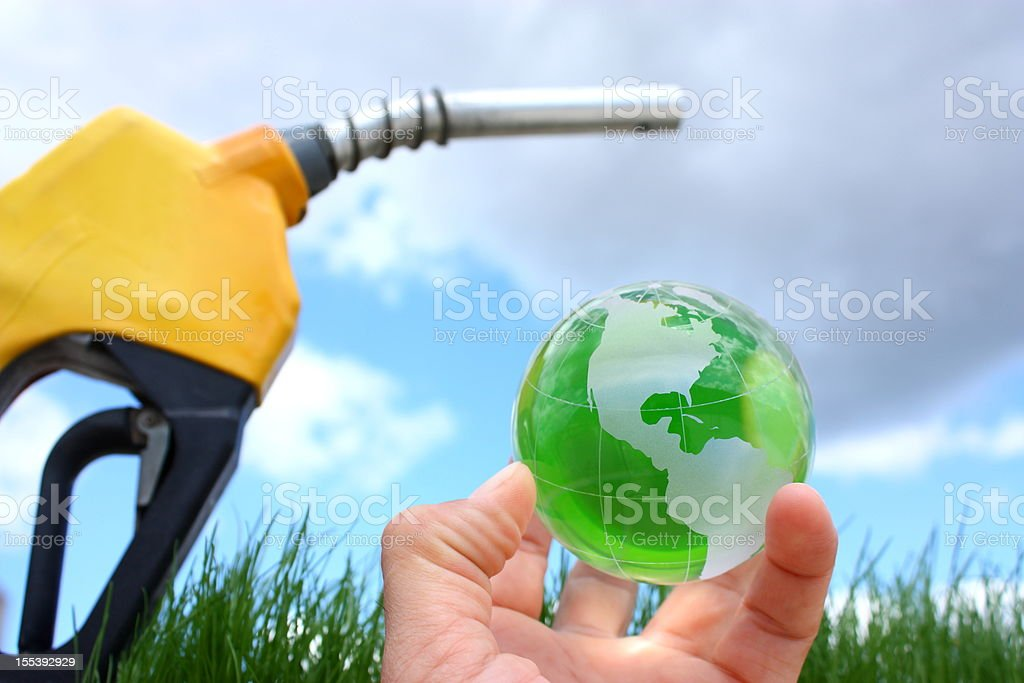Eco fuel stock photo