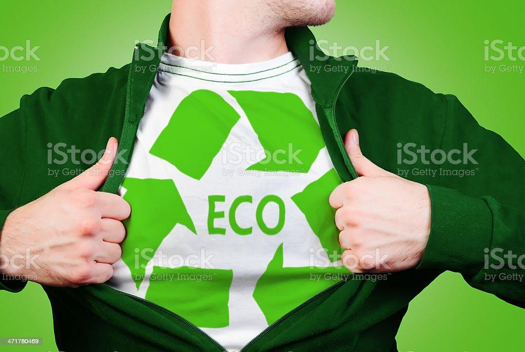 Eco hero royalty-free stock photo