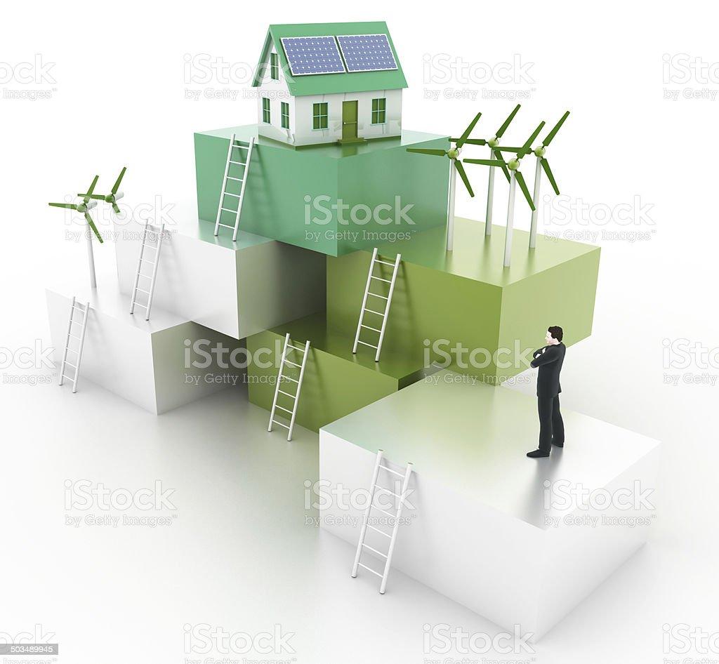 Eco Home Aspiration royalty-free stock photo