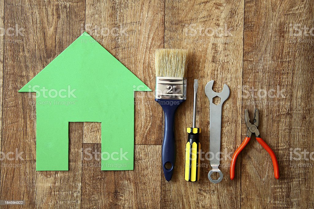 Eco house building royalty-free stock photo