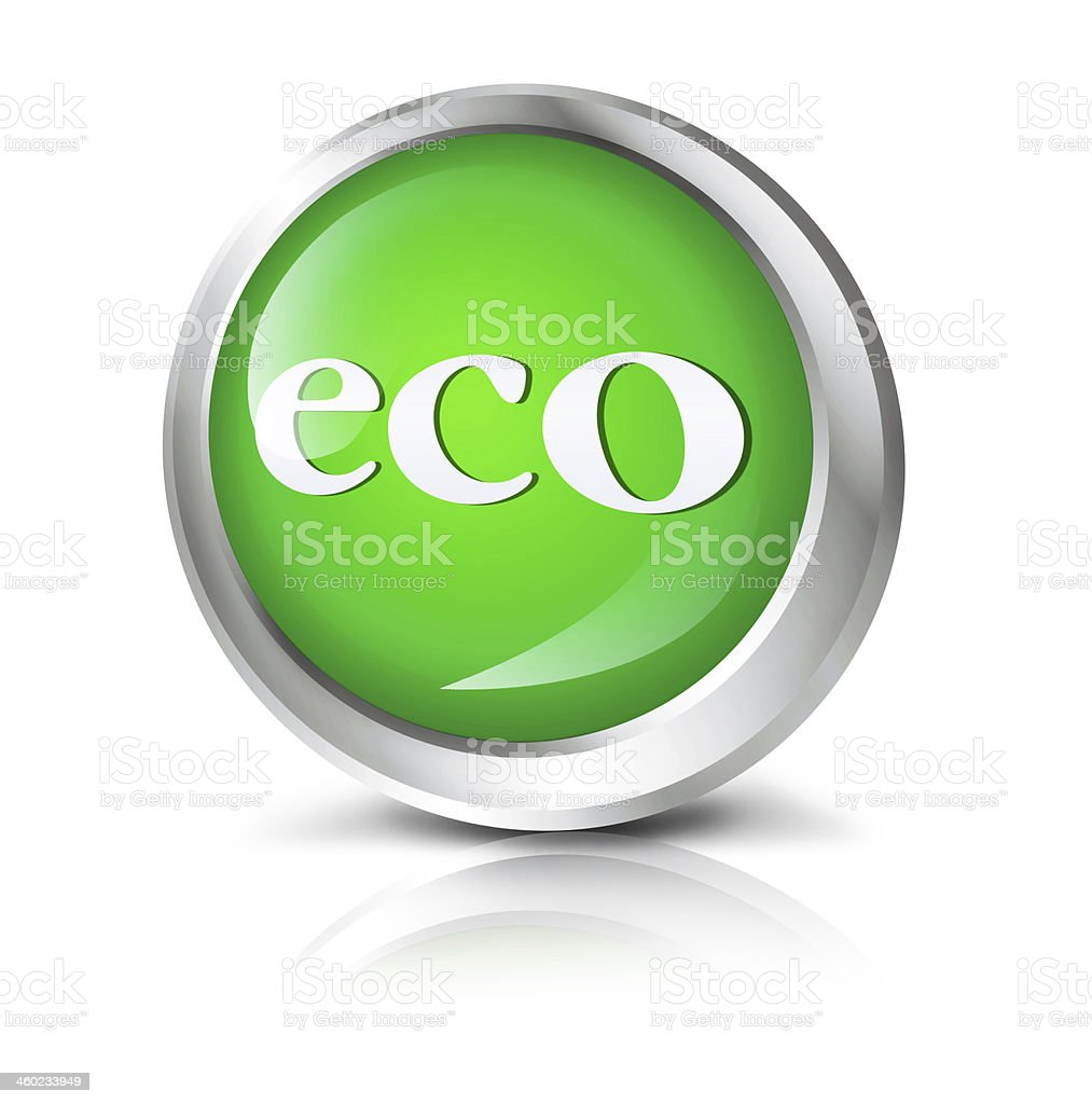 eco icon stock photo