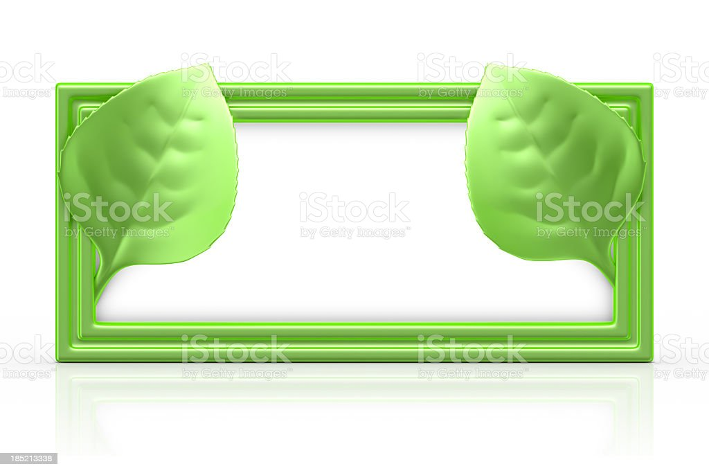 Eco Information Sign royalty-free stock photo