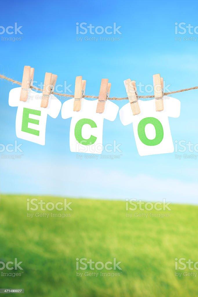 Eco Laundry royalty-free stock photo