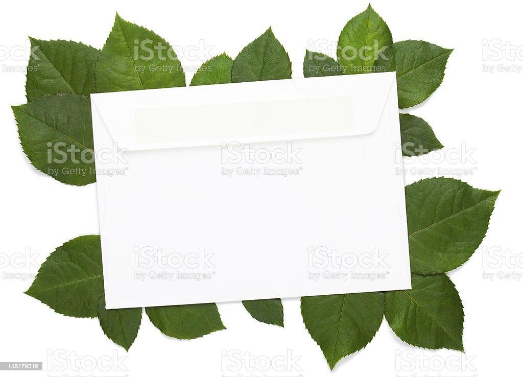 Eco letter on white royalty-free stock photo