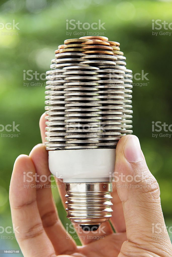 eco light bulb concept royalty-free stock photo