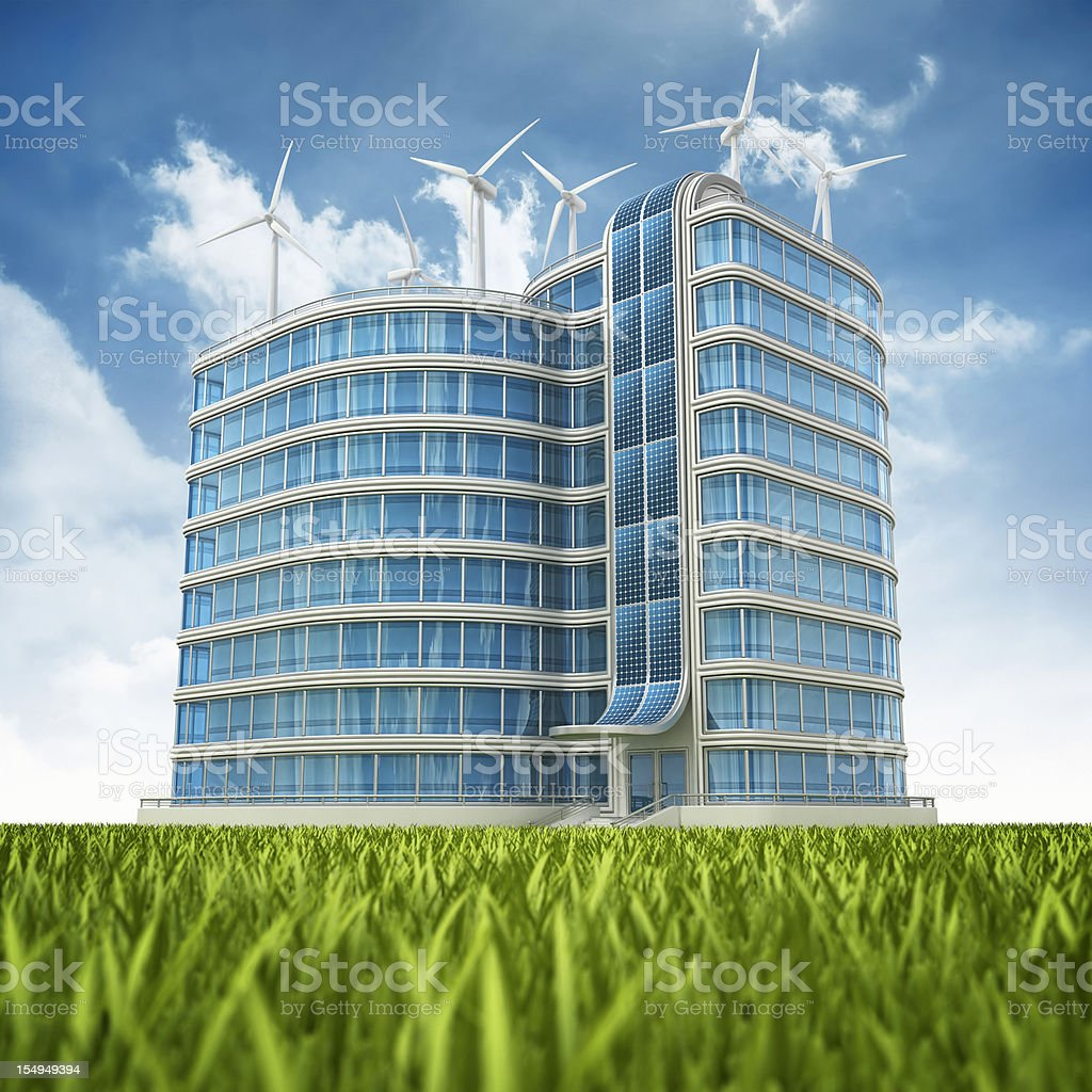 eco office building royalty-free stock photo