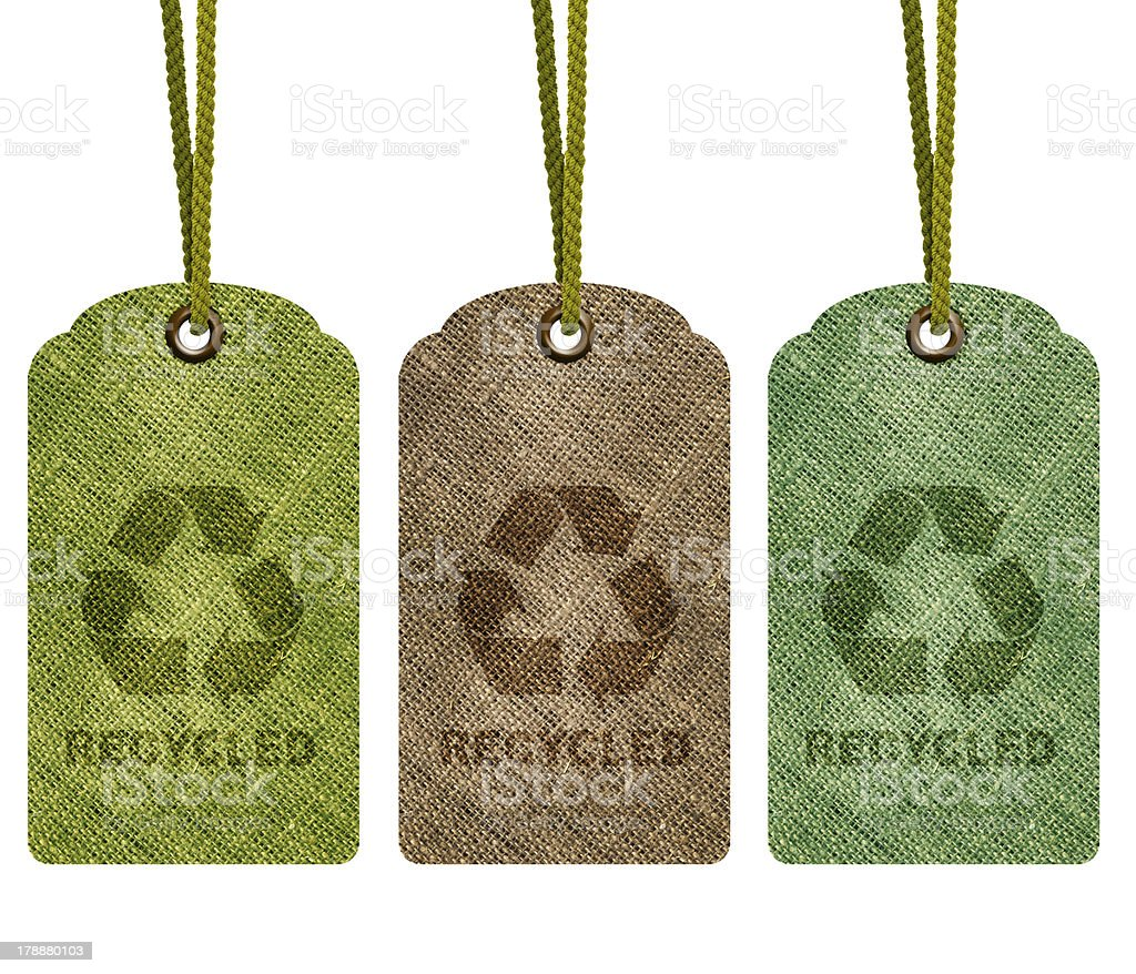 Eco Recycle Tag royalty-free stock photo