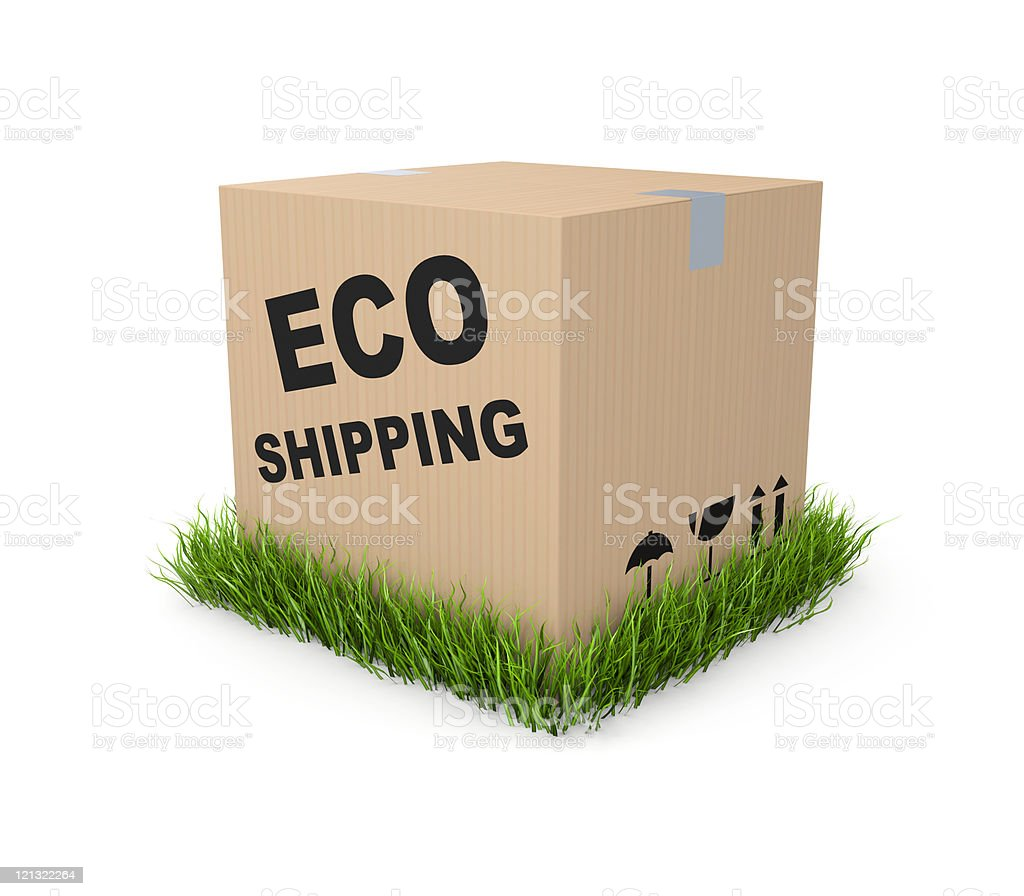 Eco shipping royalty-free stock photo