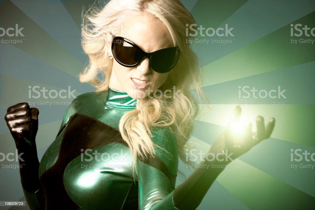 Eco Superhero Green Energy royalty-free stock photo