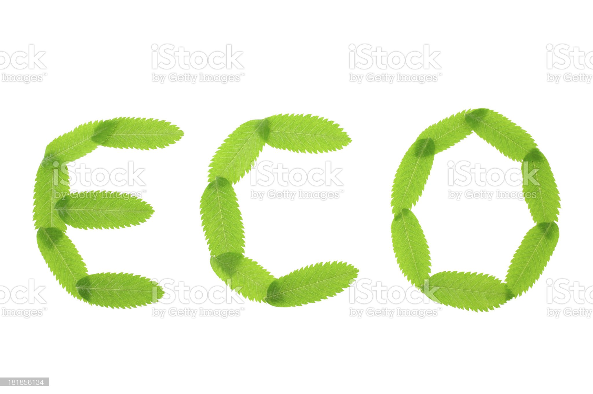 Eco text royalty-free stock photo