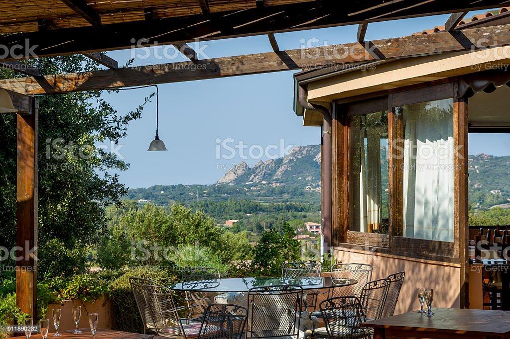 Eco tourism farm house in Sardinia. stock photo