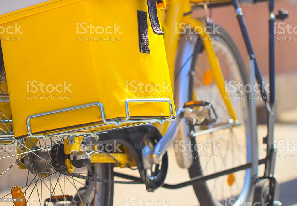 Eco transport in yellow stock photo