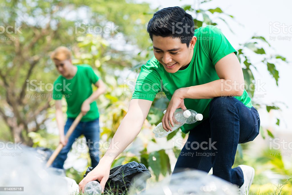 Eco volunteering stock photo