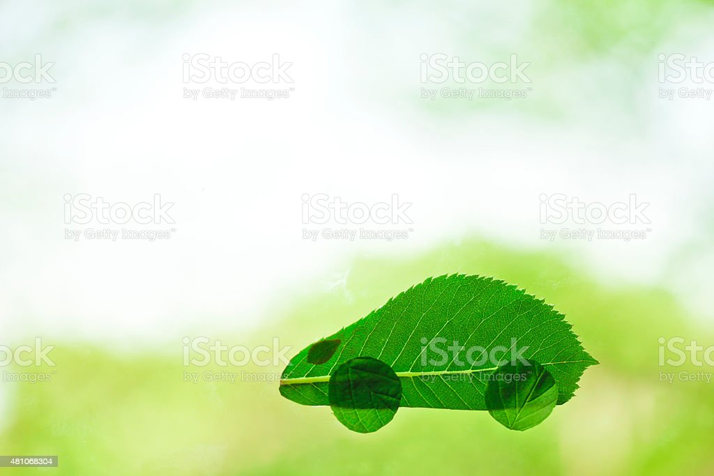 Eco-car stock photo