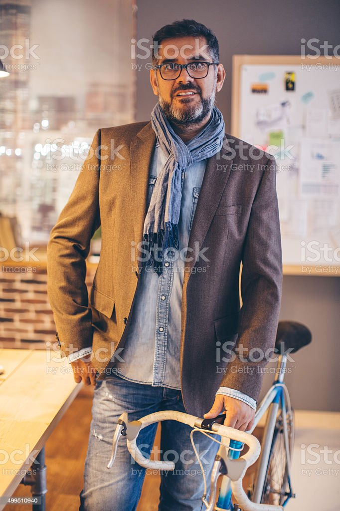 Eco-conscious business manager. stock photo