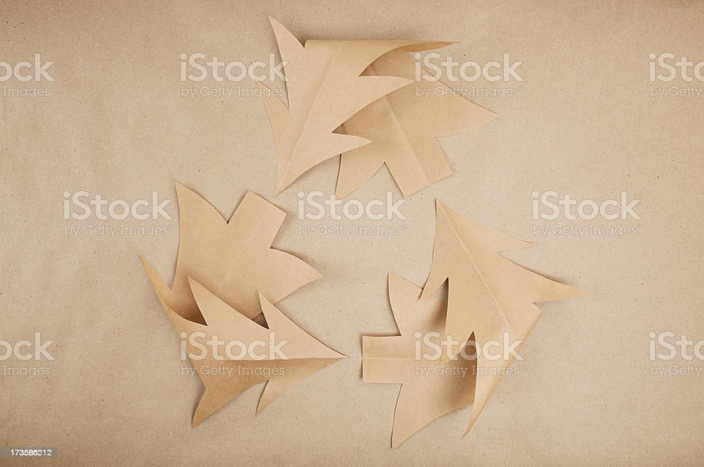 Eco-Friendly Brown Christmas Tree Holiday Recycling stock photo