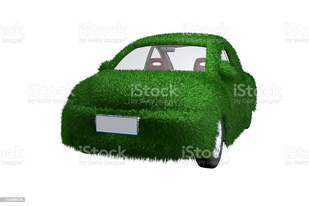 Eco-friendly car with clip path royalty-free stock photo