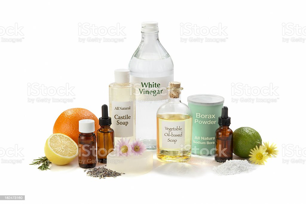 Eco-Friendly Cleaning Ingredients for the Home stock photo