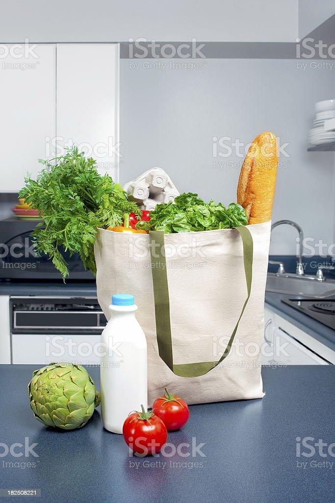 Eco-Friendly Groceries stock photo