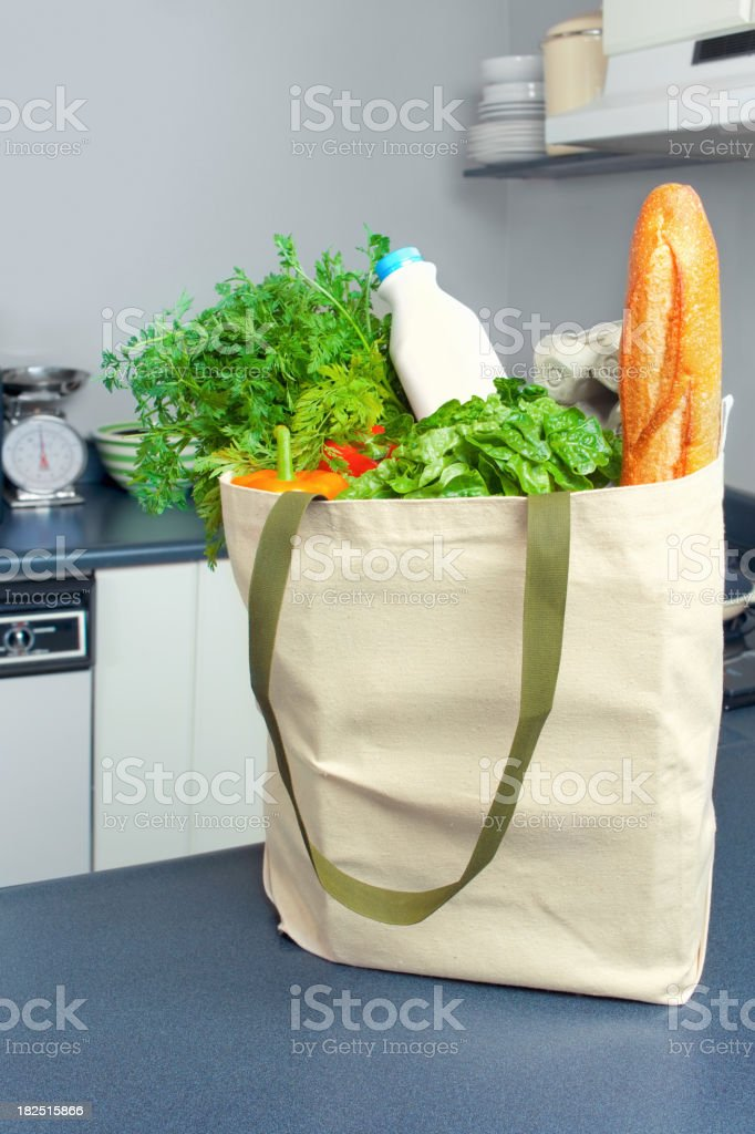 Eco-Friendly Grocery Bag stock photo