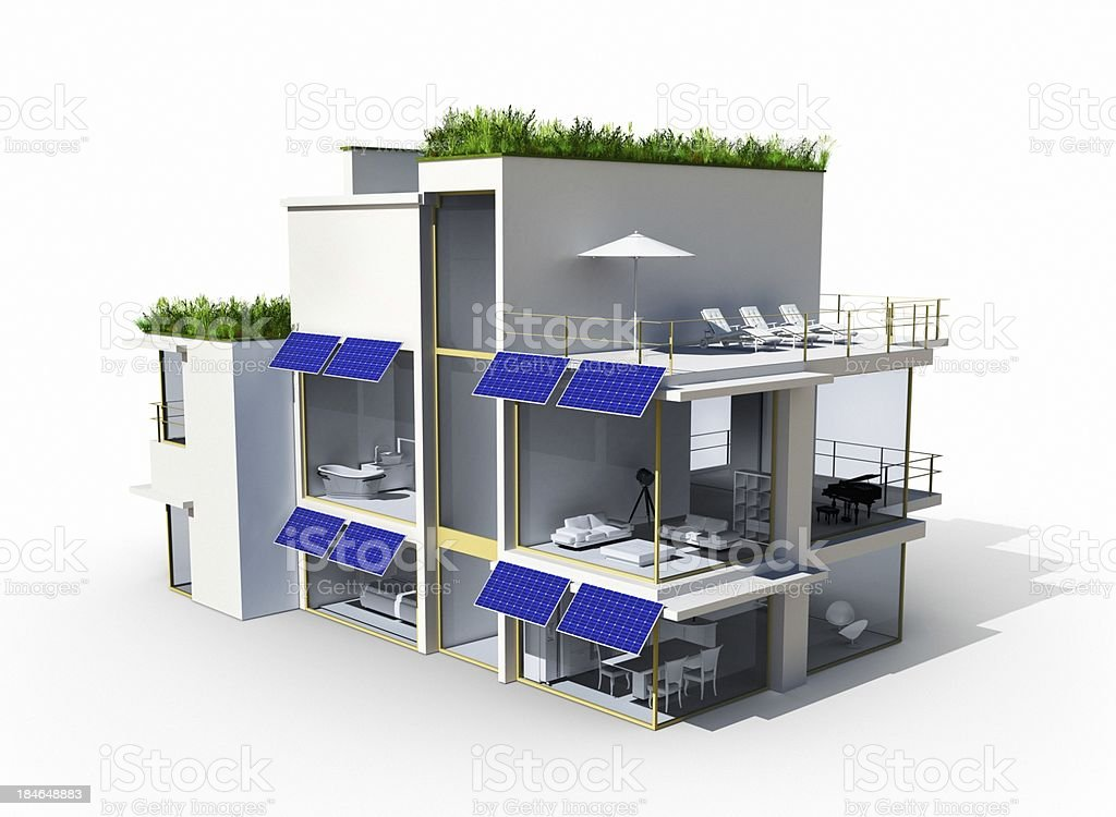 Eco-Friendly House royalty-free stock photo