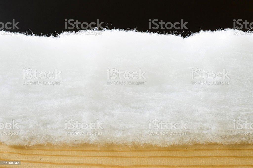 Eco-friendly loft insulation royalty-free stock photo