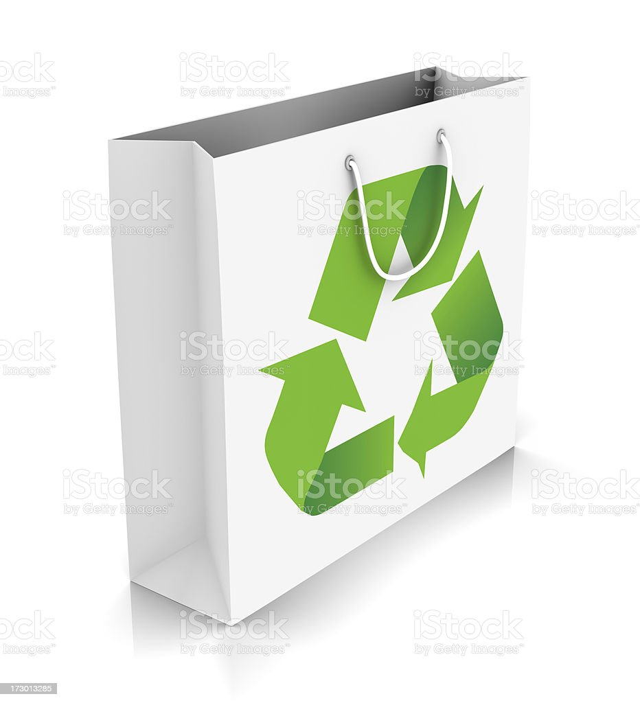 Eco-friendly shopping royalty-free stock photo