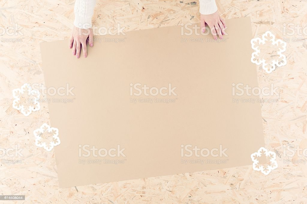 Eco-friendly wrapping paper stock photo