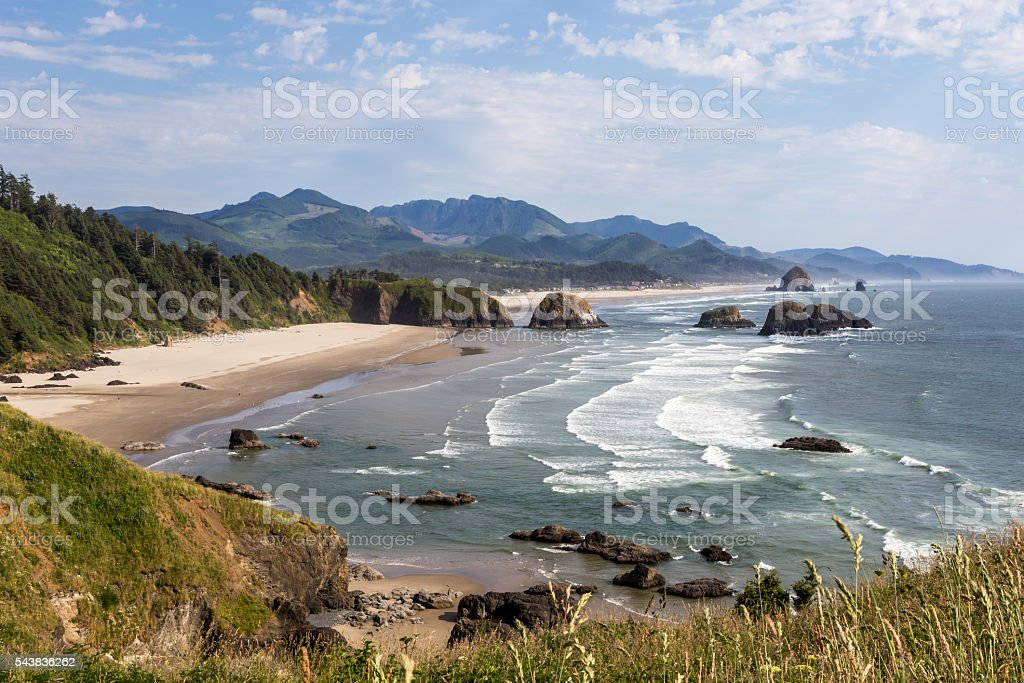 Ecola state park in Oregon stock photo