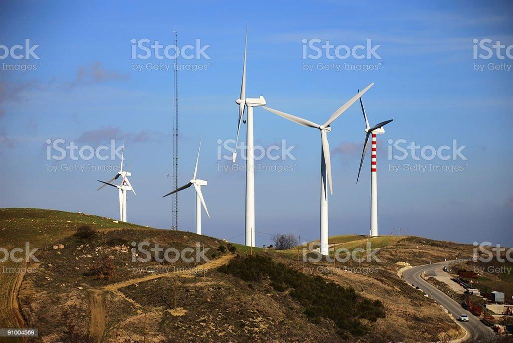 Ecologic generators royalty-free stock photo