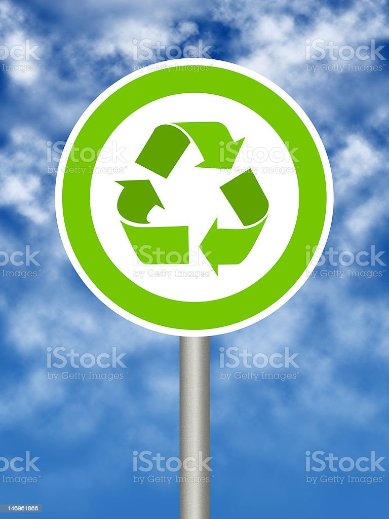 Ecologic road sign royalty-free stock photo