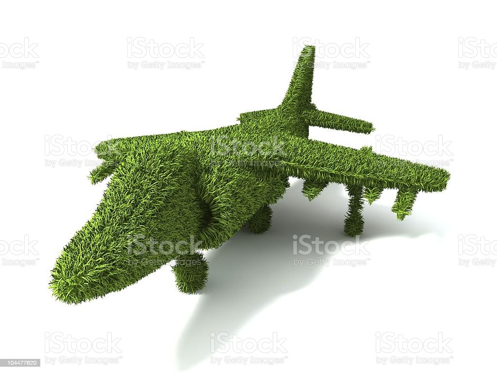 ecological airplane royalty-free stock photo