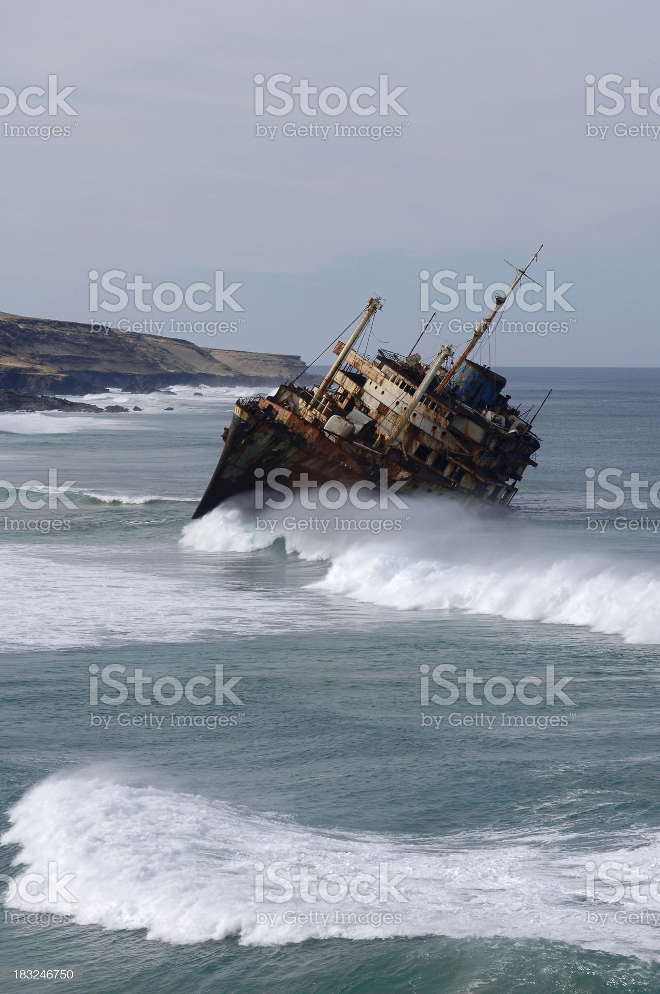 Ecological disaster royalty-free stock photo