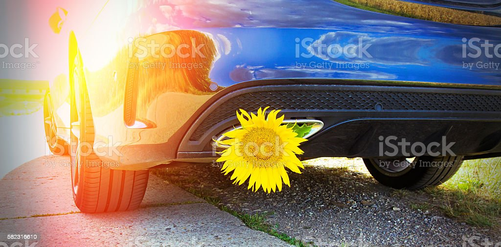 Ecological driving stock photo