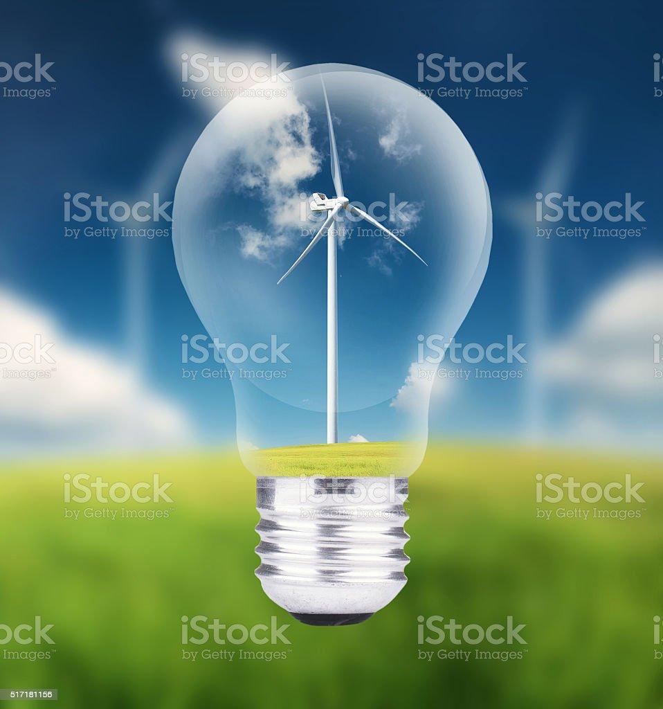 Ecological energy concept stock photo
