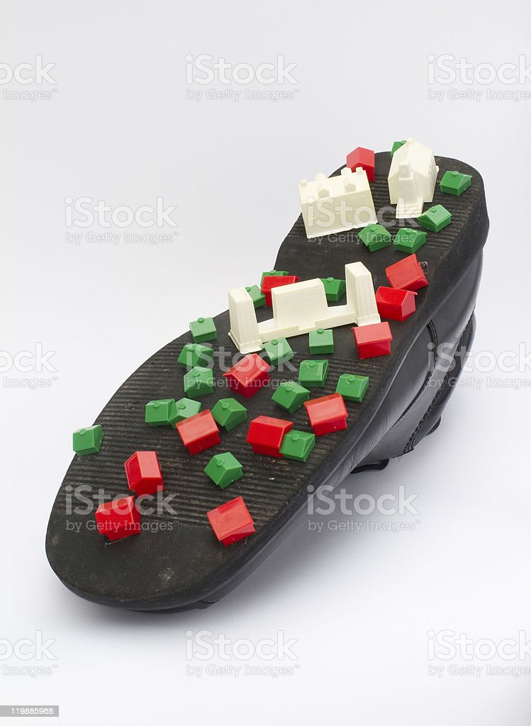 Ecological footprint royalty-free stock photo