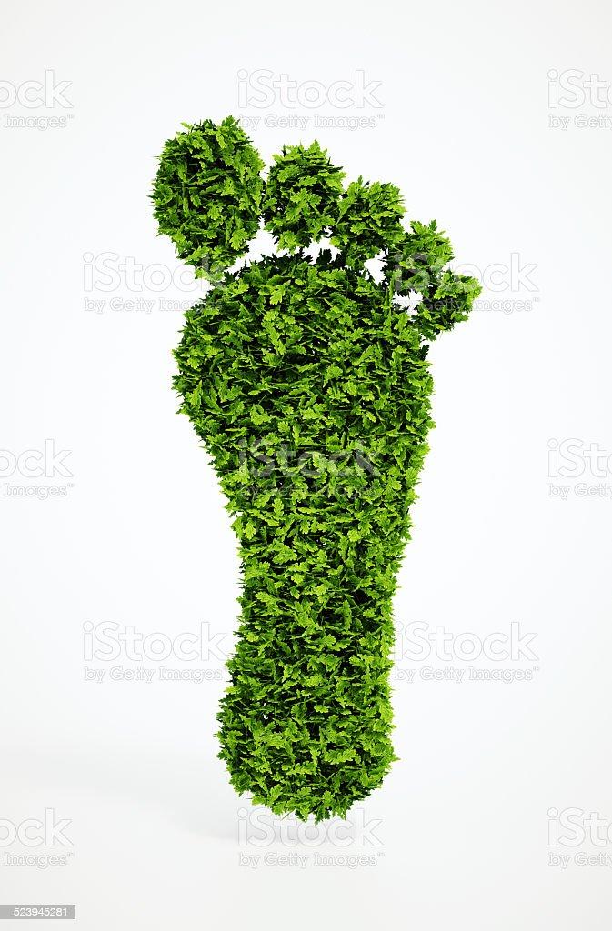 ecological footprint symbol stock photo