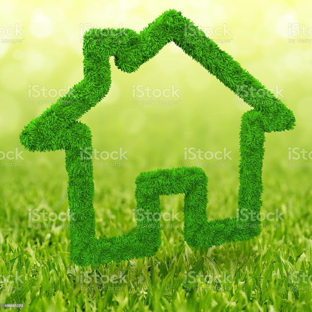 ecological house stock photo