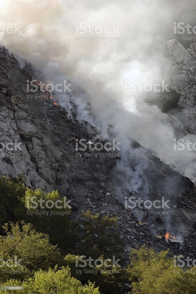Incidente ecologica foto stock royalty-free