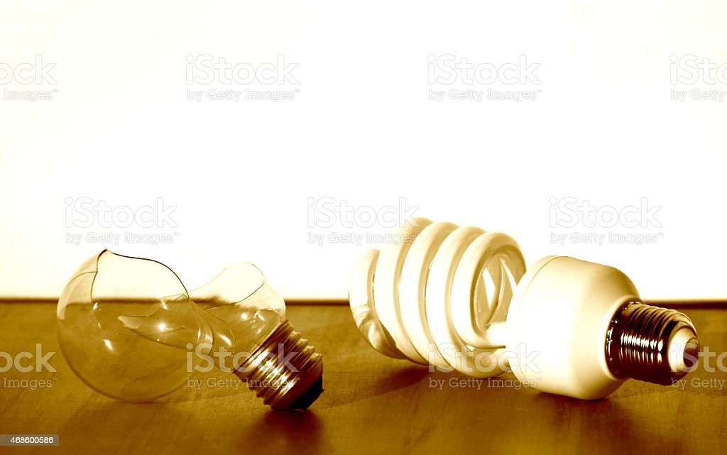 Ecological Lamp - Concepts of Efficiency. stock photo